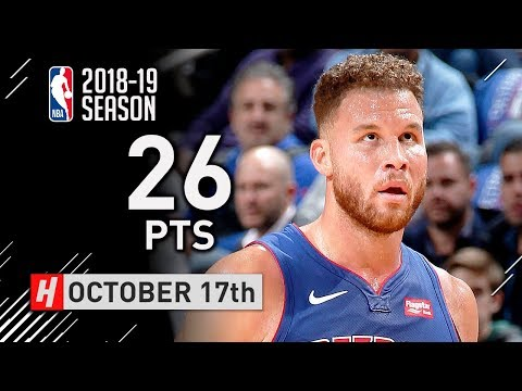 Blake Griffin Full Highlights Pistons vs Nets 2018.10.17 - 26 Pts, 7 Reb, 6 Assists