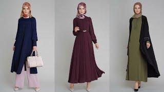 Setrms 2017 - 2018 Sonbahar Kış Sezonu - Tesettür Elbise Modelleri
