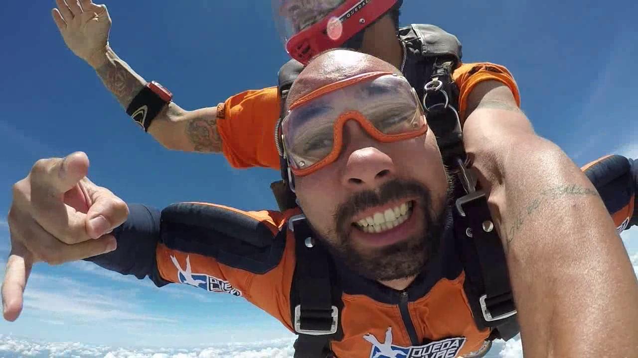 Salto de Paraquedas do Bruno na Queda Livre Paraquedismo 08 01 2017