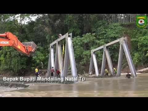 FULL..Bupati Mandailing Natal Memimpin Langsung Proses Penarikan Jembatan Yang Hanyut