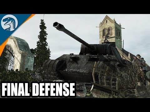 D-Day Last Stand Defensive Positions Captured | Company of Heroes: Opposing Fronts Gameplay