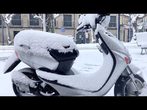 Tafalla bajo la nieve