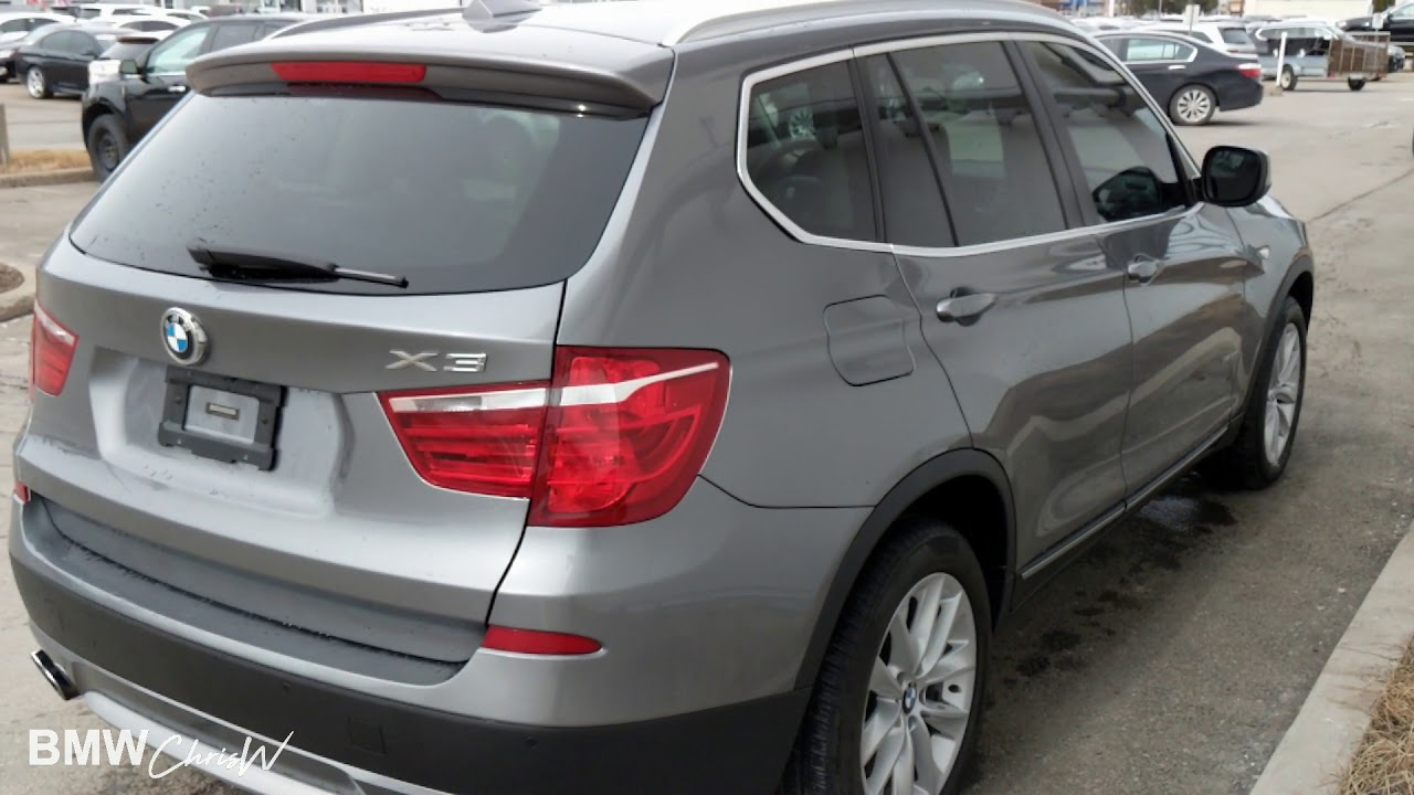 2013 BMW X3 Space Gray On Black