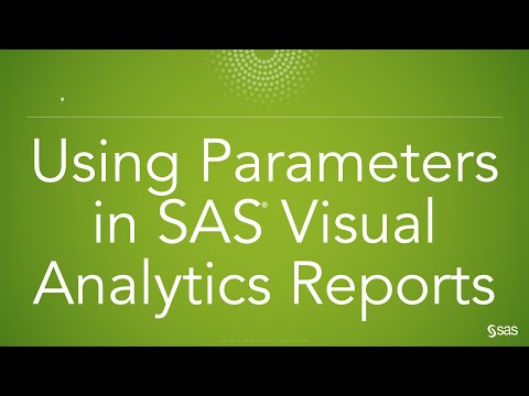 How Do I Use Parameters in My SAS Visual Analytics Reports?