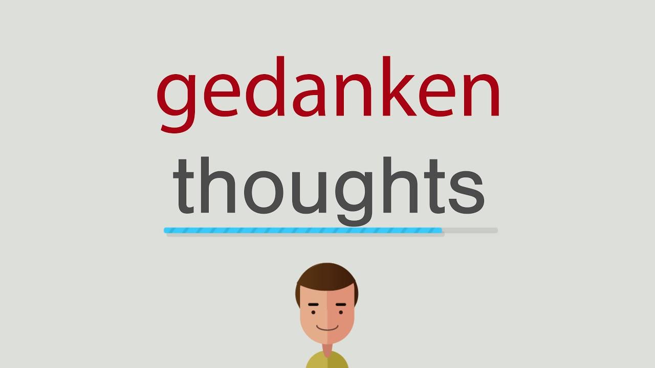Gedanken Auf Englisch