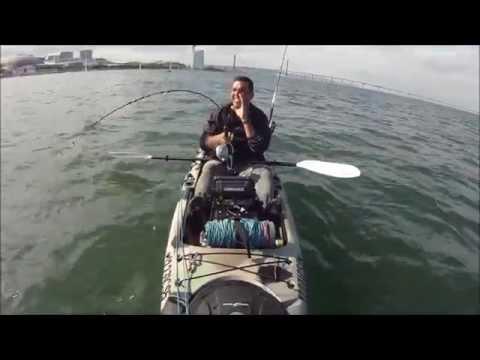 Pesca de kayak show VIDEO 8 Corvina 9kg e 18,400kg
