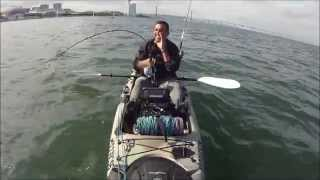 Pesca de kayak show VIDEO 8 Corvina 9kg e 18,400kg