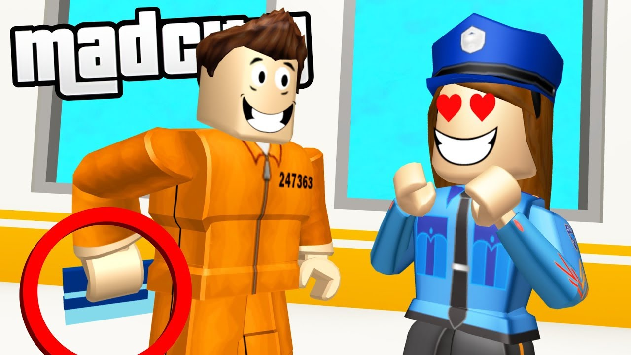 Tricking Police To Escape Mad City Prison Roblox Youtube