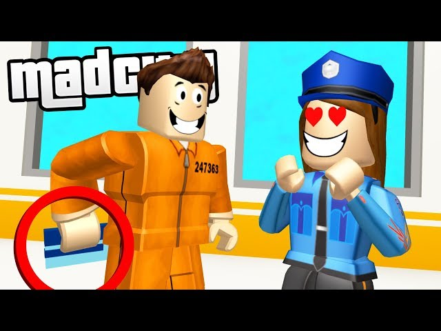 Tricking Police To Escape Mad City Prison Roblox