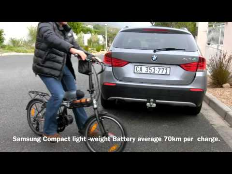 FOLDING ELECTRIC BIKE 70KM PER CHARGE
