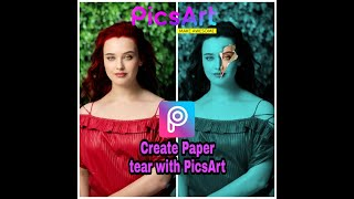 كيفية إنشاء ورقة المسيل للدموع مع PicsArt | PicsArt Editing |تكنو مكان | موبايل التطبيق تحرير|