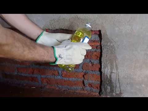 Una de las formas tradicionales de COMBATIR EL SALITRE en una pared, (No es la única forma)....