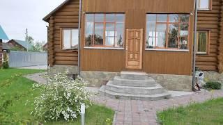Бревенчатый 2-х этажный дом в Казани рядом с Волгой на участке с ландшафтным дизайном