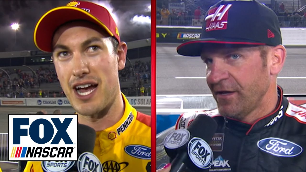 Joey Logano & Clint Bowyer on hunting Martin Truex Jr. for the win in Richmond | NASCAR on FOX