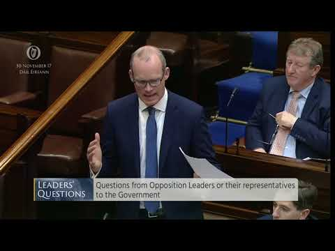 Dáil Éireann - Questions from Opposition Leaders for the Government - 30th November 2017