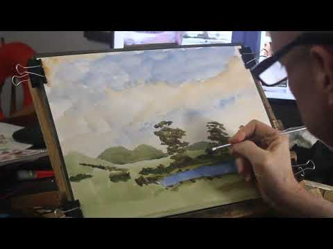 Watercolor Tutorial Painting a Loose Watercolor Landscape