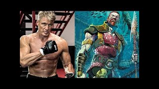 Dolph Lundgren King Nereus Aquaman Set