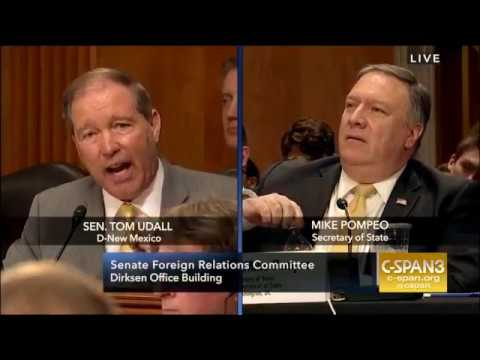 """I find that question bizarre"" Pompeo clashes with Sen. Udall"