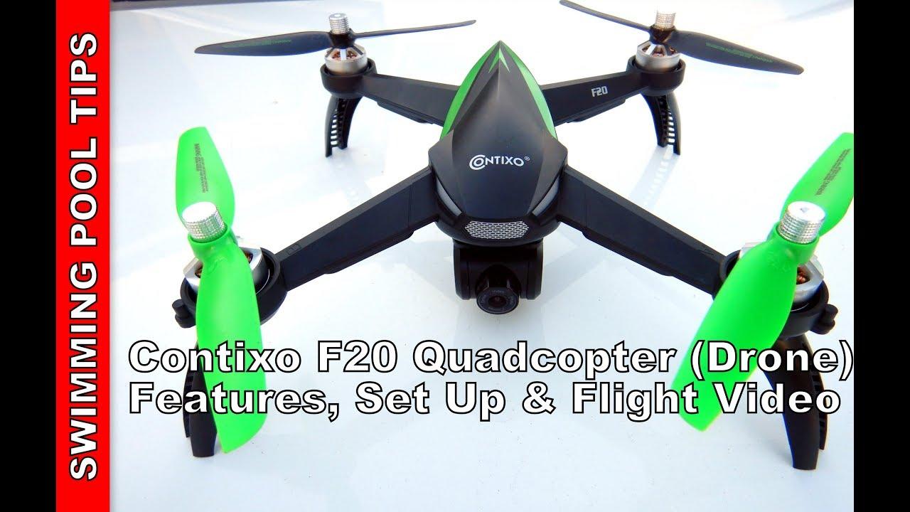 Contixo F20 RC Quadcopter (Drone) 1080P HD Camera, Auto Hover, GPS, Follow  Me Mode & More!