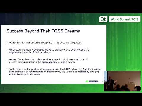 QtWS17 - The Evolution of the LGPL License Agreement, Paul Criswell, Independent General Counsel