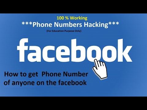how to get hidden phone number from facebook, 100 % Working facebook video  facebook hack