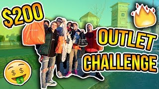 $200 OUTLET MALL CHALLENGE! (Clothing, Sneakers, Accessories)