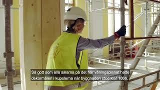 Kulturarvsspecialist Elisabet Jermsten berättar om renoveringen av Nationalmuseum.