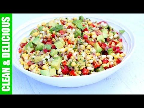 CORN SALAD WITH TOMATOES + AVOCADO | healthy summer salad