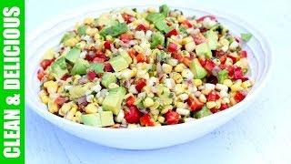 Summer Corn + Avocado Salad | Clean & Delicious