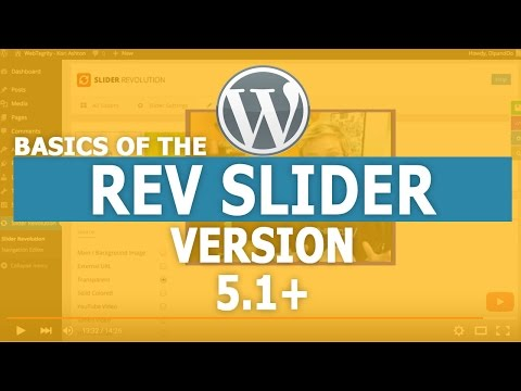 Basics of the Revolution Slider 5.1 NEW VERSION