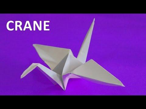 How To Make A Paper Crane. Origami Tutorials. Educational Video