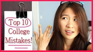 Top 10 College Mistakes! (Freshman Year)