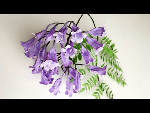 Repeat Abc Tv How To Make Butterfly Tree Paper Flower From Crepe