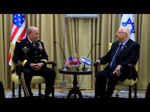 President Rivlin meet Gen. Dempsey, Chairman of the United States' Joint Chiefs of Staff