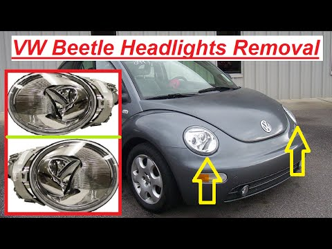 VW Beetle Headlight Removal / Replacement and Light Bulb replacement - YouTube