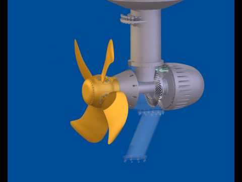 Azimuth propeller Autodesk Inventor simulation