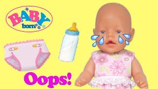 Girl changing baby doll. Baby born doll videos. Baby doll morning routine.
