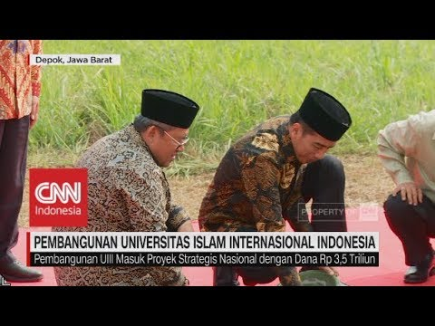 Jokowi Resmikan Pembangunan Universitas Islam Internasional