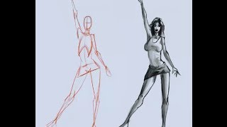 How to draw the female figure from your mind -- no references