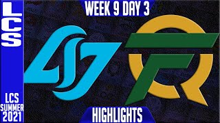 CLG vs FLY Highlights   LCS Summer 2021 W9D3   Counter Logic Gaming vs FlyQuest