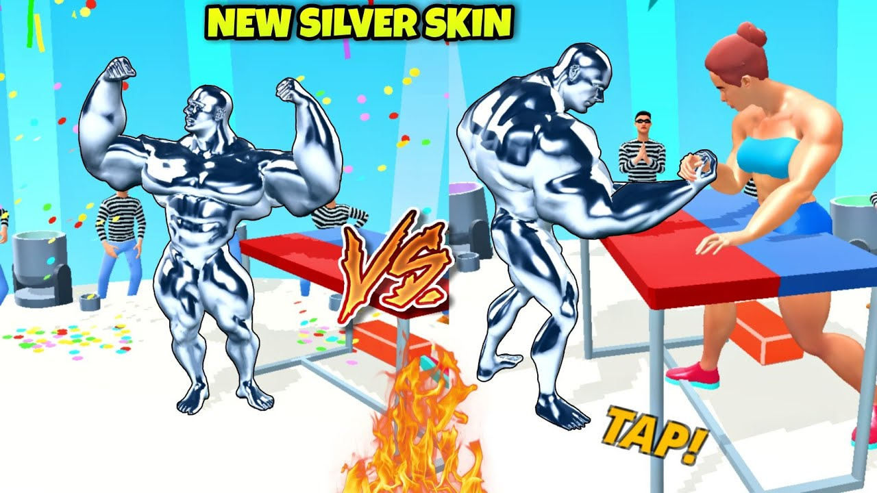 New Silver Skin Character Unlocked in Muscle Rush / Muscle Rush