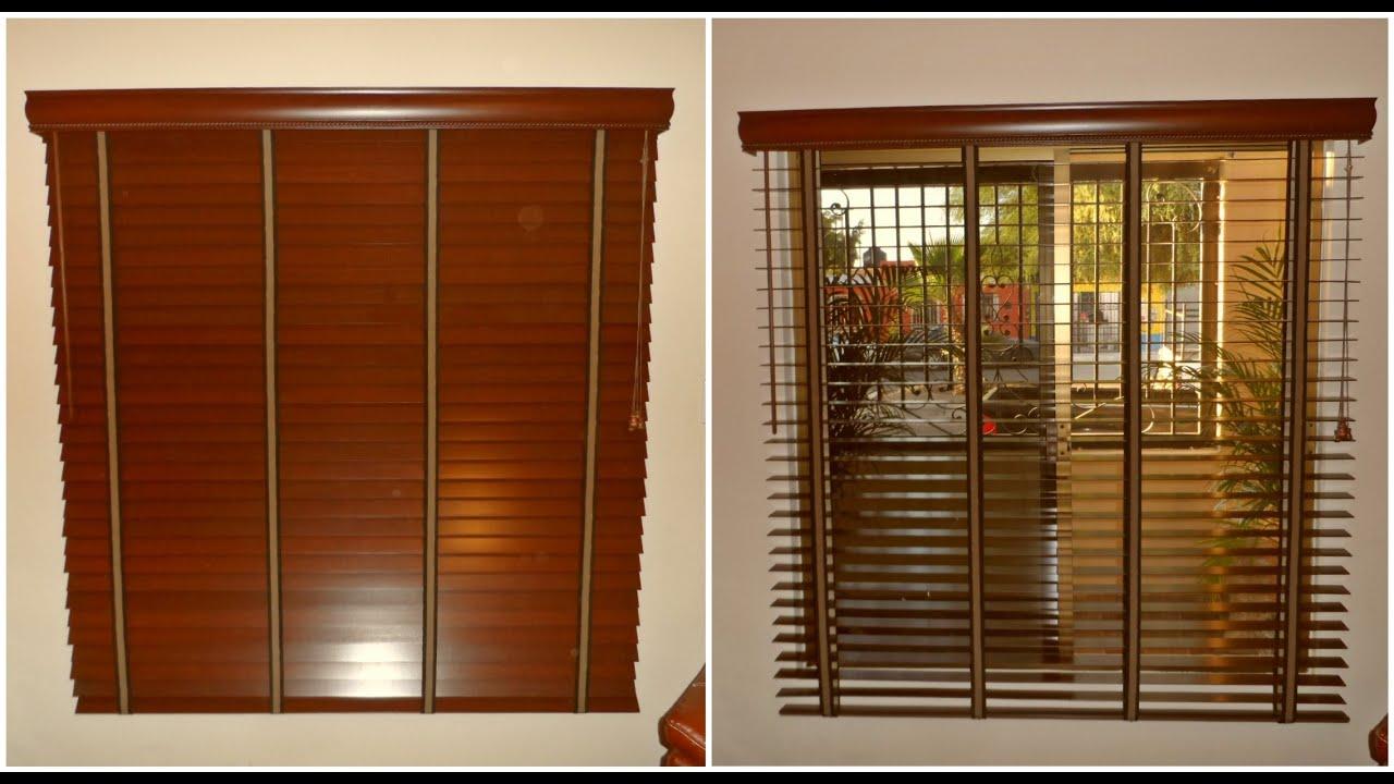 Video persianas horizontales de madera 2 1 2 tipo shutter for Persianas madera