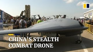 China military news: stealth combat drone under development is unveiled