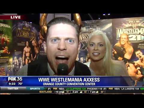 David Does It: WWE Wrestlemania Axxess - Interview with the Miz and Maryse