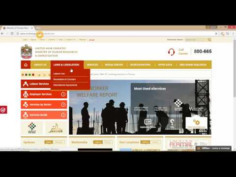 How to check your Employment contract online in Dubai
