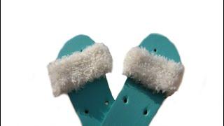 Tricotin - Sandales moumoute / Loom knitting faux-fur sandals