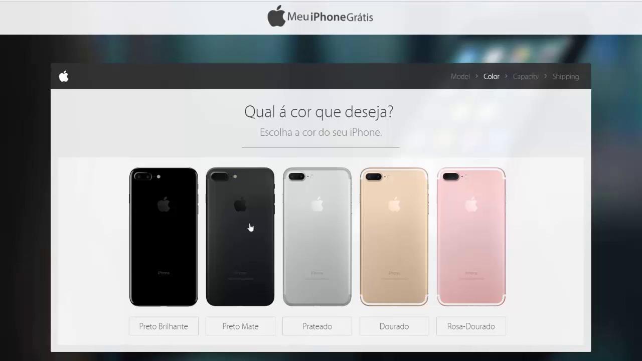 b123ac82d iPhone 7 Brasil De Graça - Promoção de Preço - YouTube