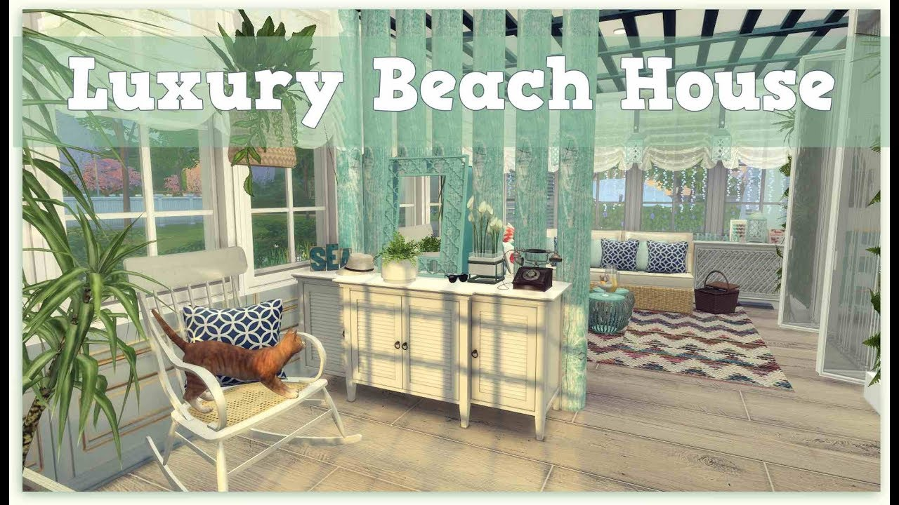 Sims 4 luxury beach house download cc creators links for Beach house 3 free download