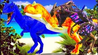 Carnivoros Fugitivos Migrando, Lider Carno, Os Corruptos Dominarão o Deserto! Ark Dino Evolved
