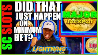 I Bet 50 Cents And Won My BIGGEST MAJOR JACKPOT EVER!!! LIGHTNING LINK Slot Machine Video HUGE WIN!!